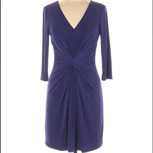David Meister Long Sleeve V-neck Dress